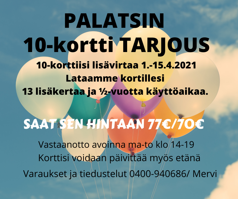 10-KORTTI TARJOUS 15.4. ASTI !!